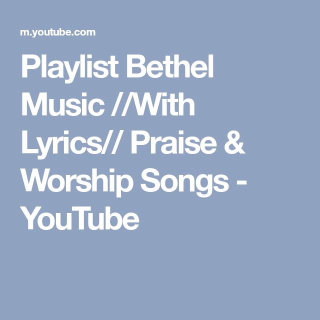 Worship songs with lyrics playlist
