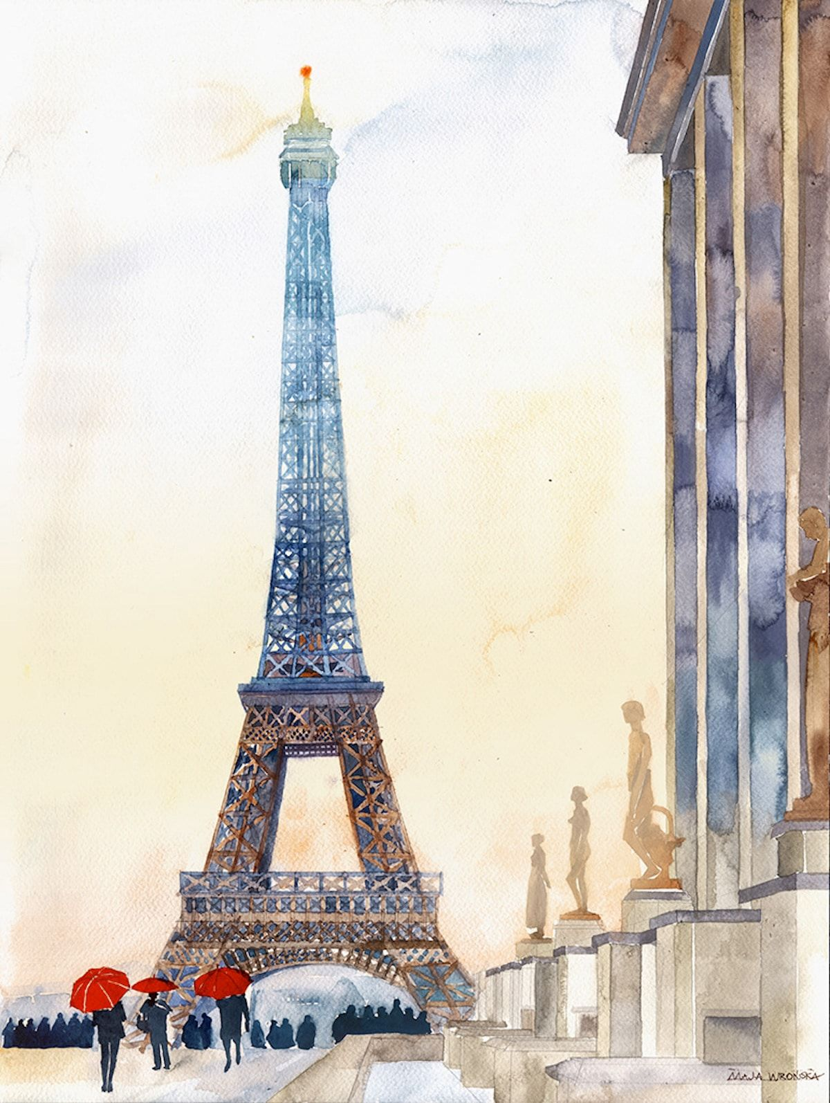 Watercolor Paintings Capture The Beloved Monuments Of Cities