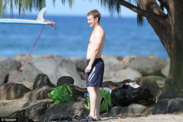 Mark Zuckerberg And Priscilla Chan Surfing At Christmas In Hawaii Daily Mail Online In 2020 Mark Zuckerberg Surf Lesson Surfing