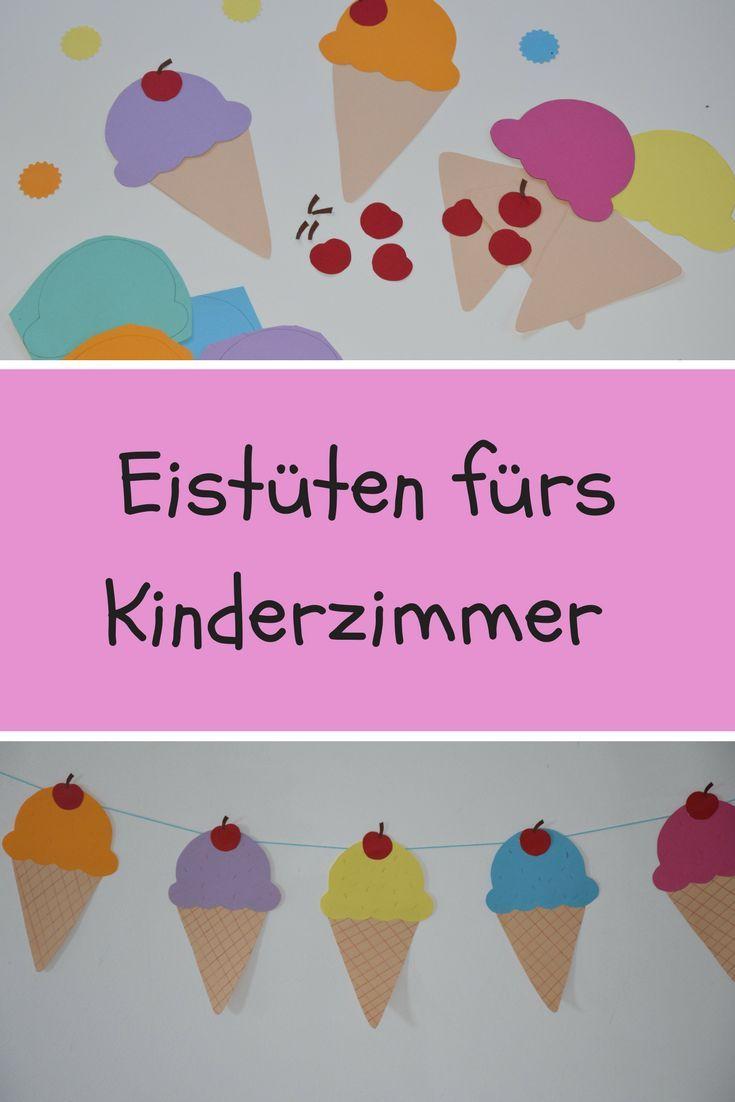 Photo of Wir haben uns sommerliche Deko ins Kinderzimmer gebracht. Mit Kindern süße Eis…