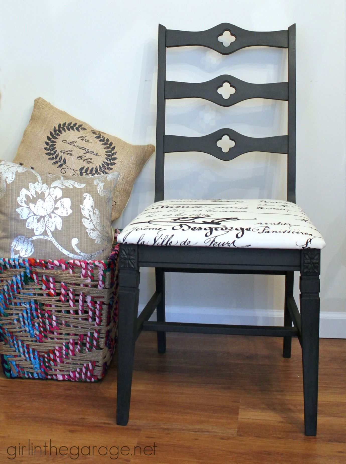 Graphite Chalk Paint Chair Makeover {Client Project}