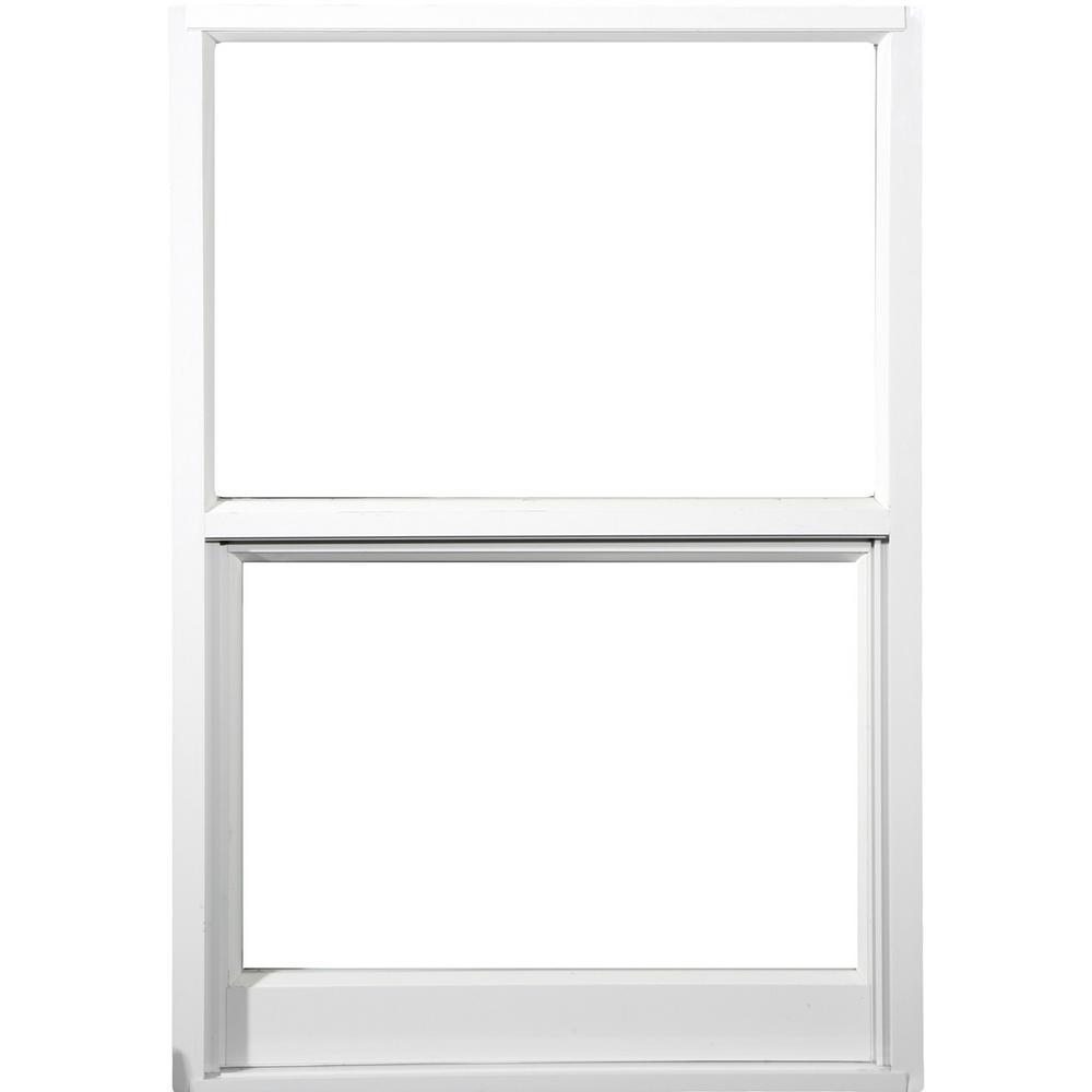 Awp 37 In X 63 In 2500 Series Impact Single Hung White Aluminum Window 2500 The Home Depot Aluminium Windows Single Hung Windows Laminated Glass