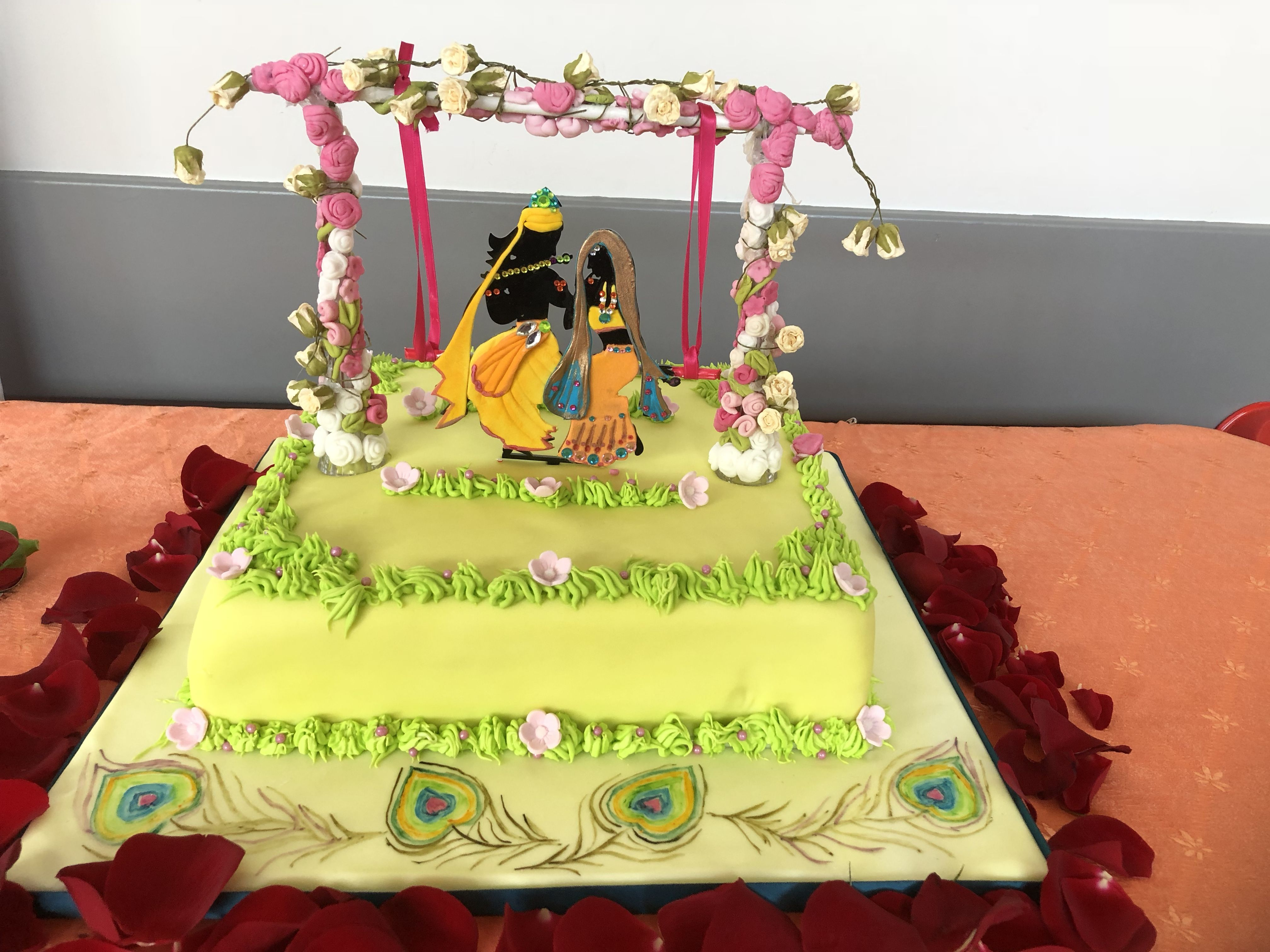 Janmashtami 2018 | Themed cakes, Cake designs, Peacock wedding theme