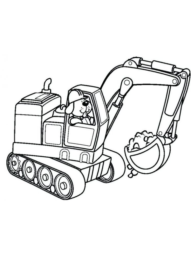 Printable Excavator Coloring Pages Excavators Are Heavy Equipment Consisting Of Arms Booms And B Coloring Pages Truck Coloring Pages Printable Coloring Pages