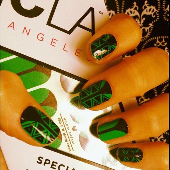 Fotos de uñas color verde - 45 Ejemplos - green nails | Decoración ...