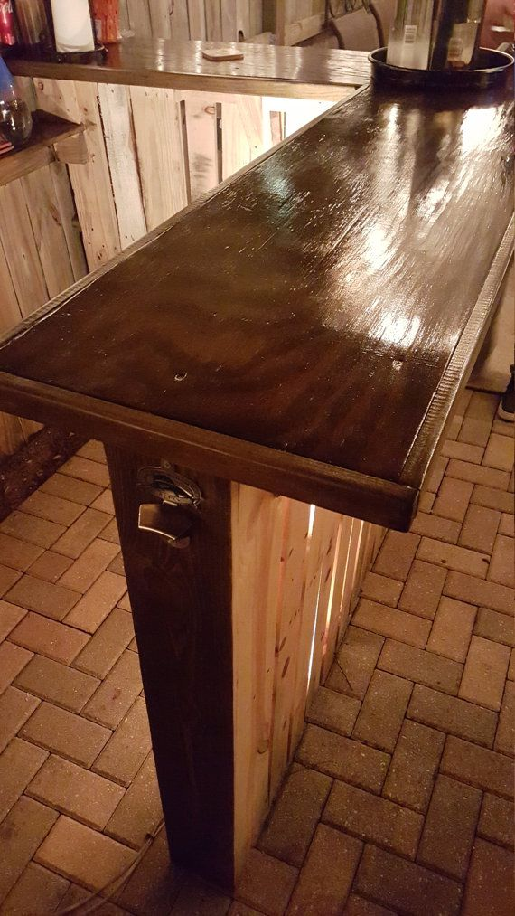 Reclaimed wood pallet bar indoor/outdoor by RusticRemake on Etsy