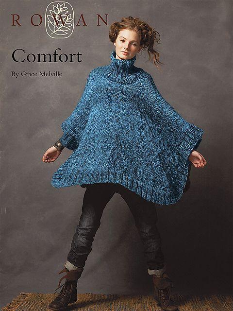 Ravelry Comfort Poncho Pattern By Grace Melville Knitting Shawls