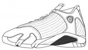 jordan 14 shoes coloring pages bing images
