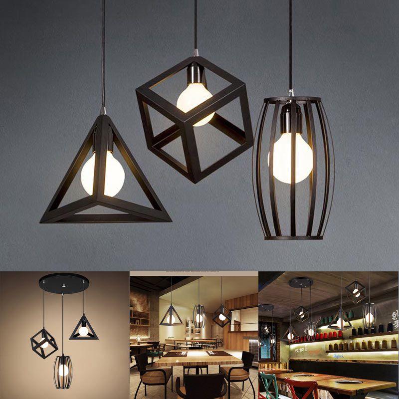 E27 Industrial Ceiling Light Vintage Chandelier Pendant Kitchen Bar Fixture Lamp Industrial Ceiling Lights Ceiling Lights Unique Chandeliers