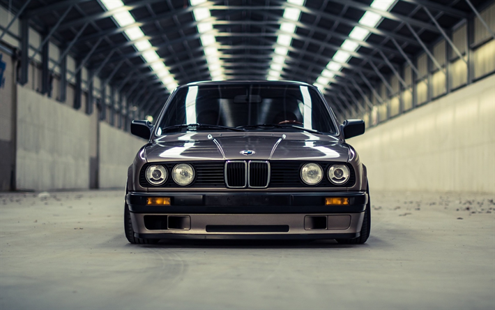 Obtain wallpapers BMW E30, traditional automobiles, tuning E30, understating, German automobi…