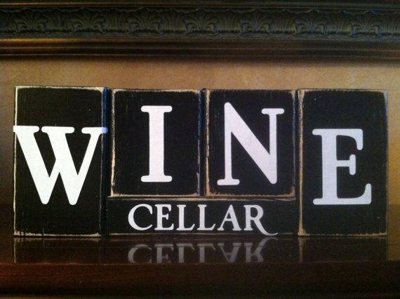 Weinzeit Holzblöcke, Weinzeit Zeichen, Bar Zeichen, Bar