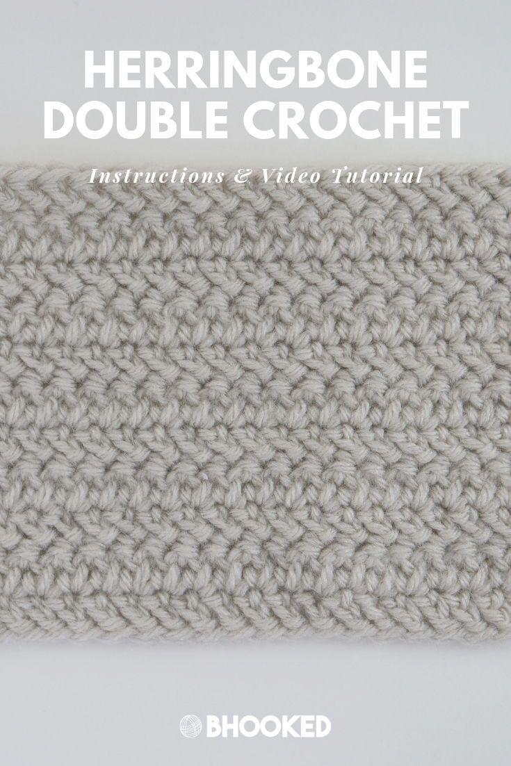 Herringbone Double Crochet Stitch Step-by-Step Tutorial & Instructions