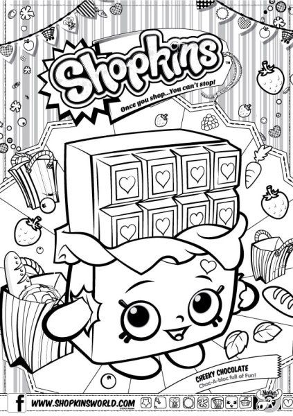 Shopkins Coloring Pages Season 1 Apple Blossom Party Shopkins