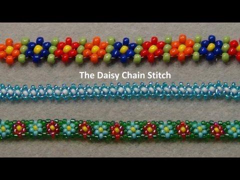 64288438e769 Pulseras de flores con chaquiras - Imagui