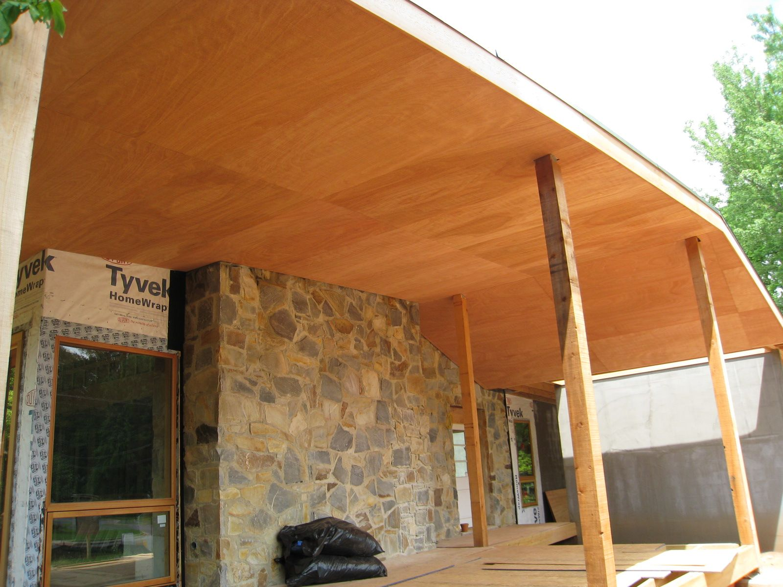 Plywood Ceiling Covered Patio Design Patio Ceiling Ideas