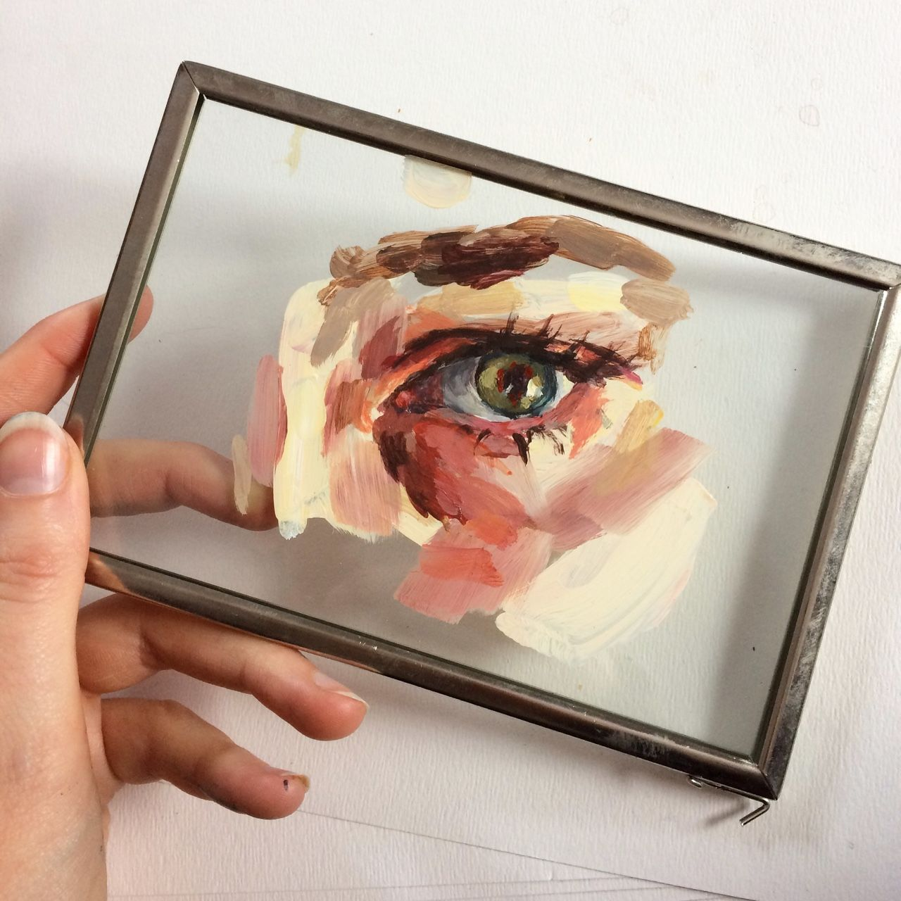 Painting On Glass Peinture Painting Art Dessin
