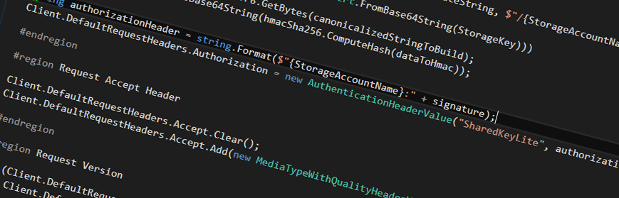 Solved: Authentication with Azure Storage REST API in C# | Blogposts