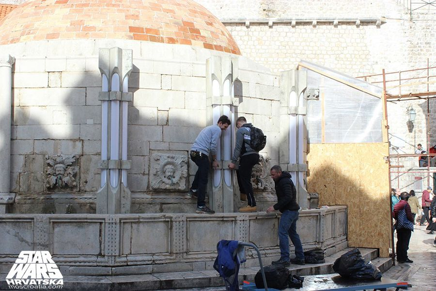 Onofrios Fountain in Dubrovnik gets a makeover, photo Star Wars Hrvatska