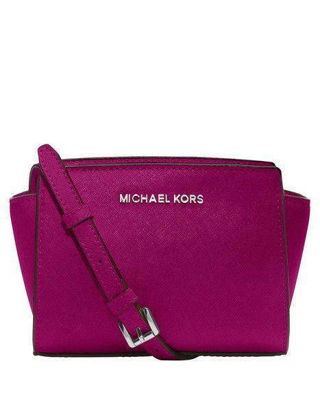 c461424b8bd6db MICHAEL Michael Kors Mini Selma Messenger Bag in Fuchsia Pink | Our ...