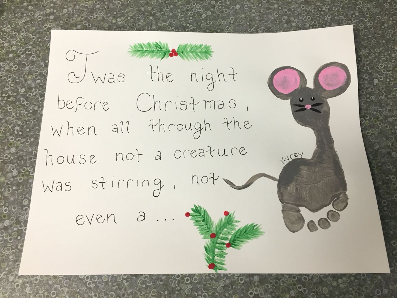 Cute Christmas Craft Preschool Christmas Crafts Mouse
