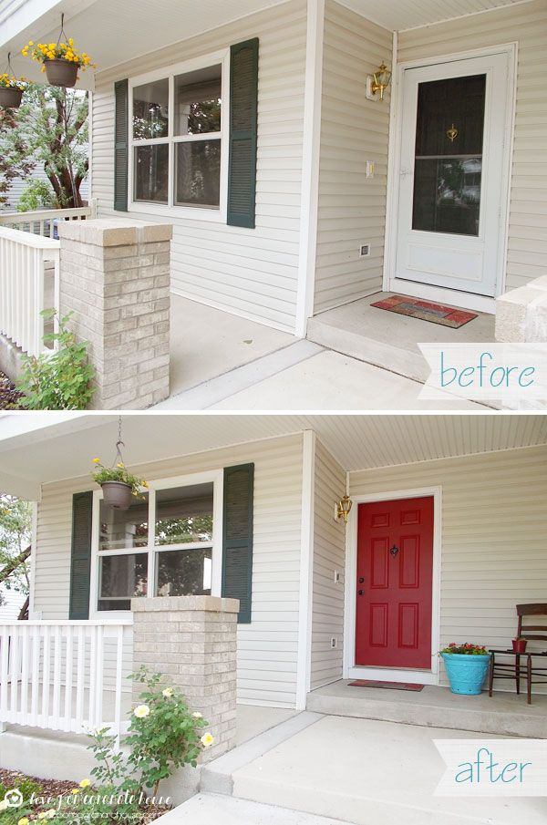 How-to Paint Your Front Door | Love, Pomegranate House | DIY ...