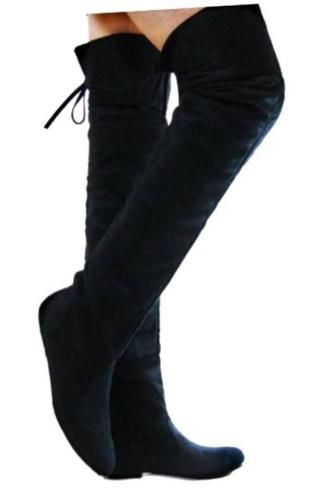 d6b5fff0ff5 Comfort Slouchy Thigh-High Women Boots Casual Shoes5-10 in 2019 ...