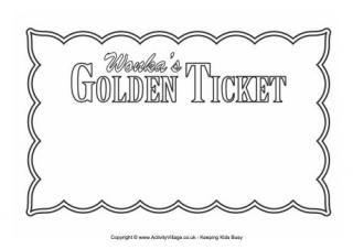 Golden Ticket  Blank   Pinteres