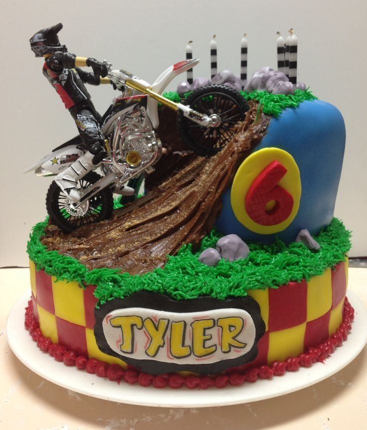 Dirt Bike Birthday Cake Birthday ideas Pinterest Dirt bike