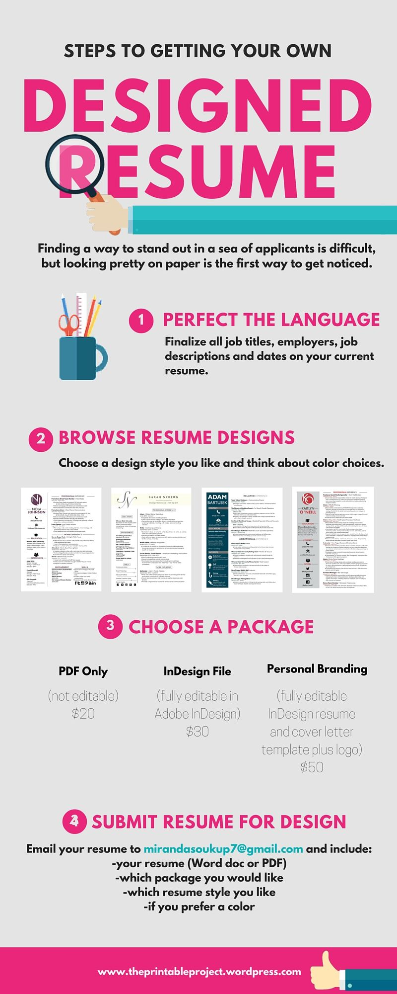 pretty on paper  a well designed resume