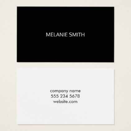 Minimalist black white business card reheart Choice Image