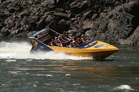 Jet boat on the Zambezi below Victoria Falls - Jet Extreme!