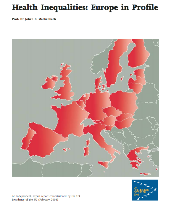 Mackenbach Johan P 2006 Health Inequalities Europe In Profile Department Of Health London Inequality Creative Map