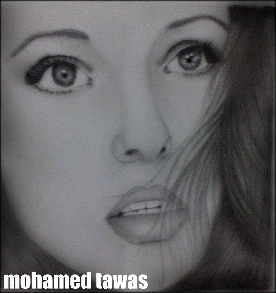 رسم امرأة Portrait Drawing Portrait Nose Ring