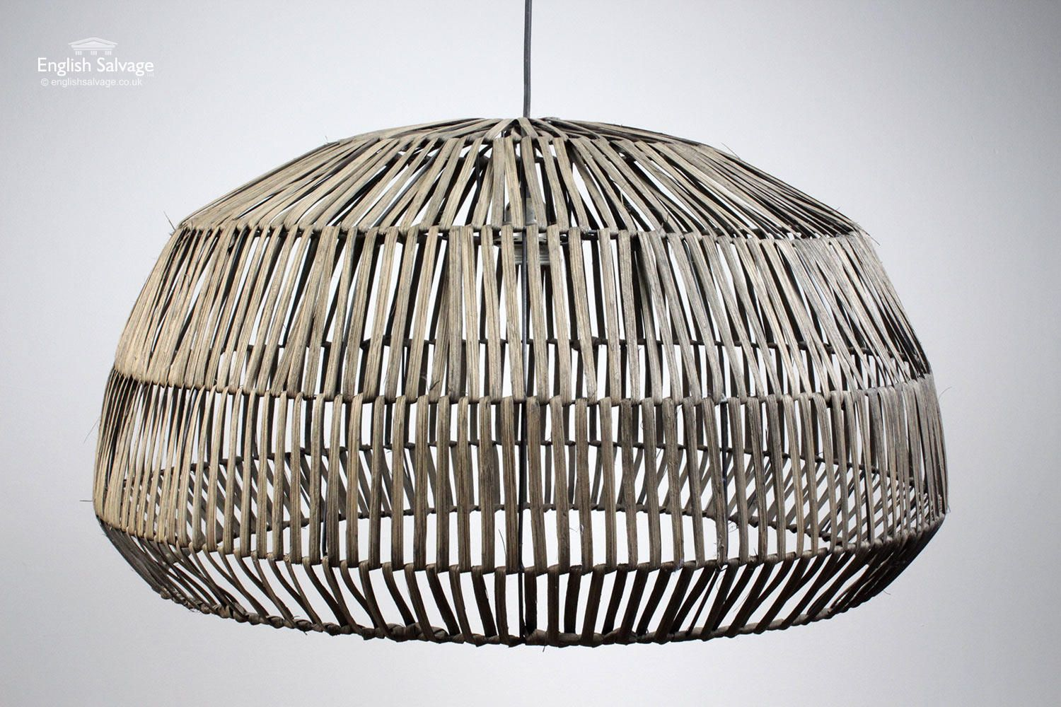 Reclaimed large rattan pendant lights in lighting rare and