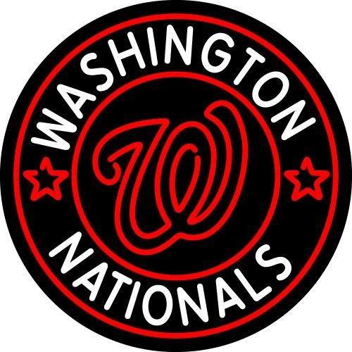 Washington Nationals Official Mlb Bar Club Neon Light Sign