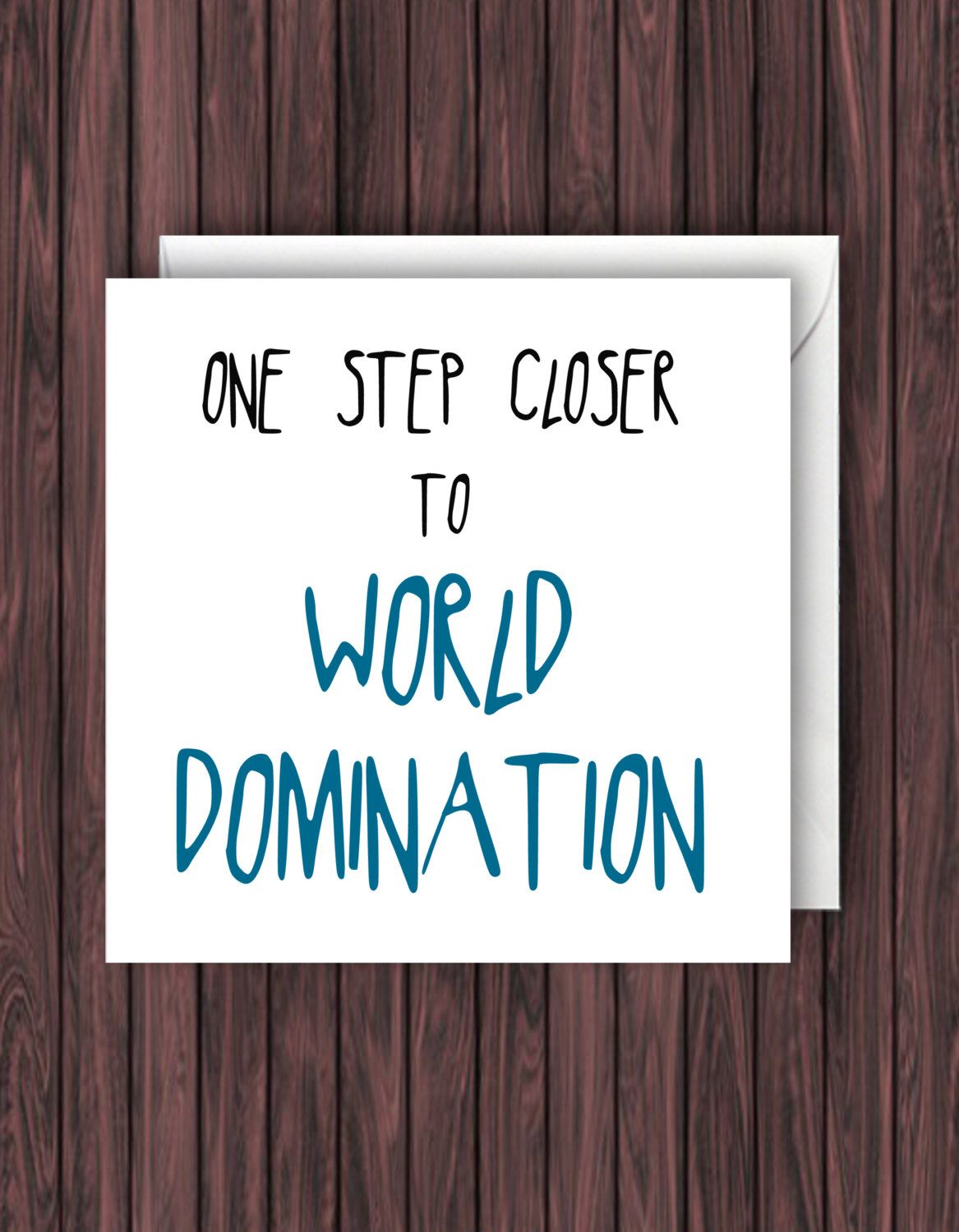 World Domination Funny Graduation Card Funny Greeting Card Funny