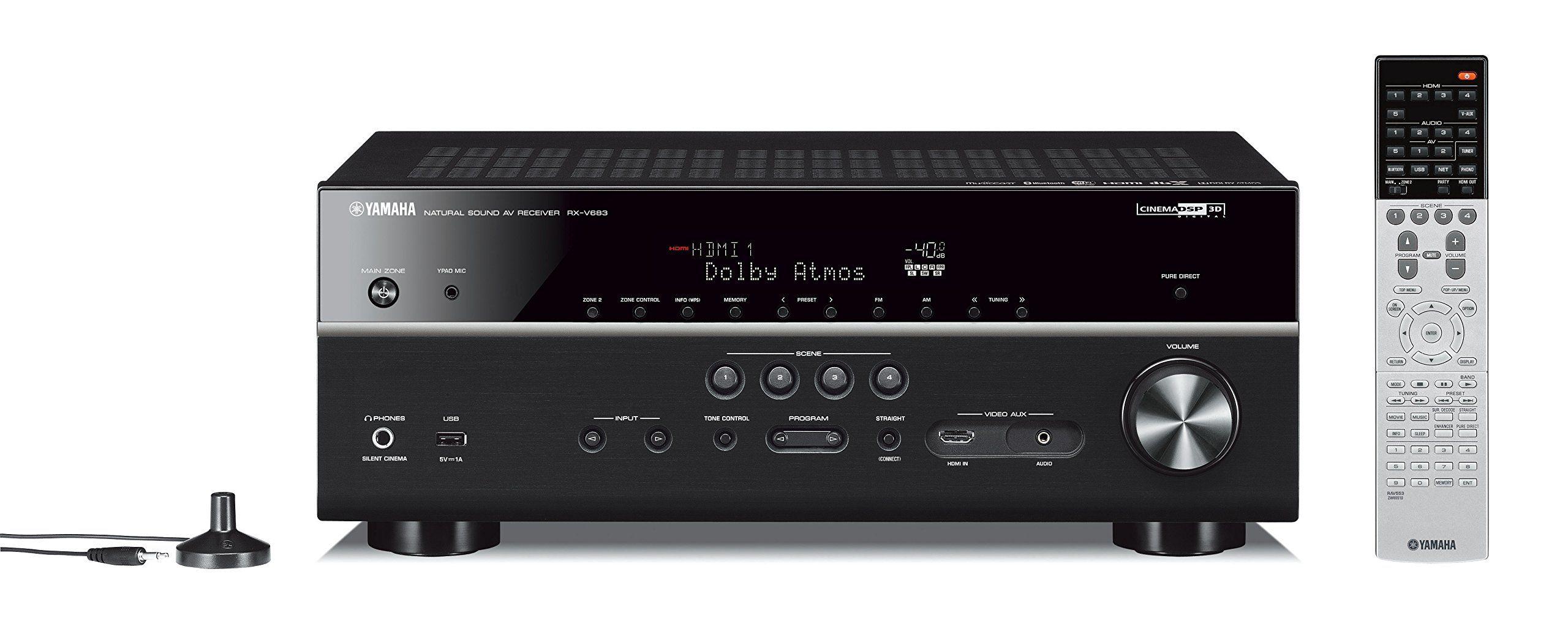 Yamaha rx  bl channel musiccast av receiver with bluetooth also rh pinterest