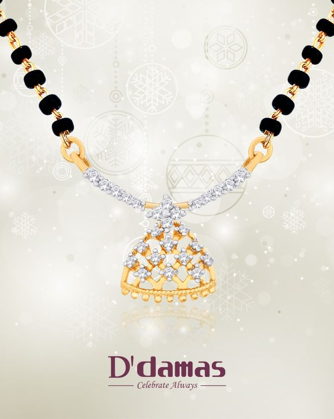 Diamond & Gold Mangalsutra from D\'damas   Jewellery Gifting Ideas ...