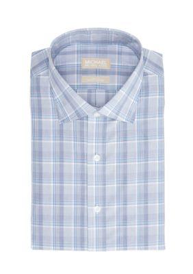 c2580d126945 MICHAEL Michael Kors Harmony Blue Big Tall Non Iron Dress Shirt