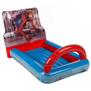 Spiderman Web Crawler Inflatable Bed Inflatable Bed Spiderman Bed Kid Beds