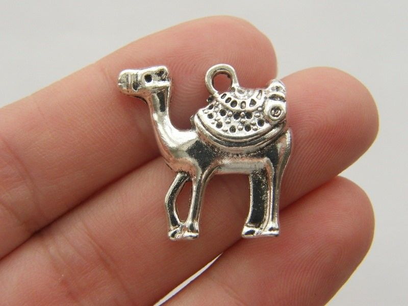 BULK 50 Camel charms antique silver tone