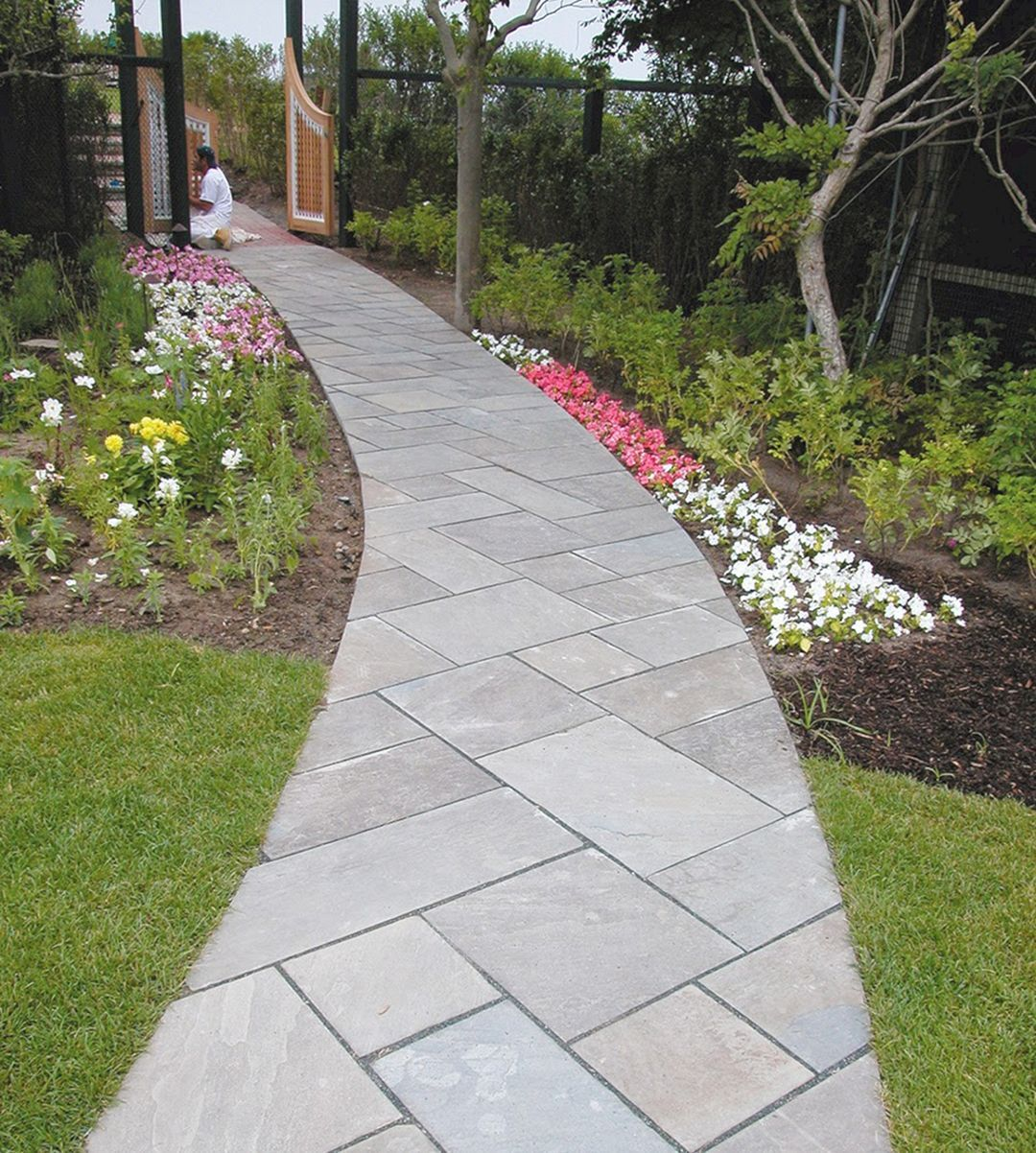 20 Best Backyard Landscaping Ideas With Walkway Front Walkway Landscaping Walkway Landscaping Landscaping With Rocks