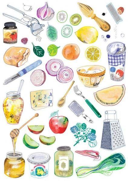 pin von doodle aj auf food kitchen illu pinterest kochbuch rezeptb cher und zeichnen. Black Bedroom Furniture Sets. Home Design Ideas
