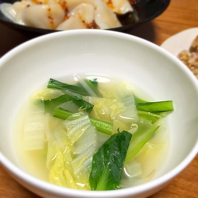 中華 スープ 白菜