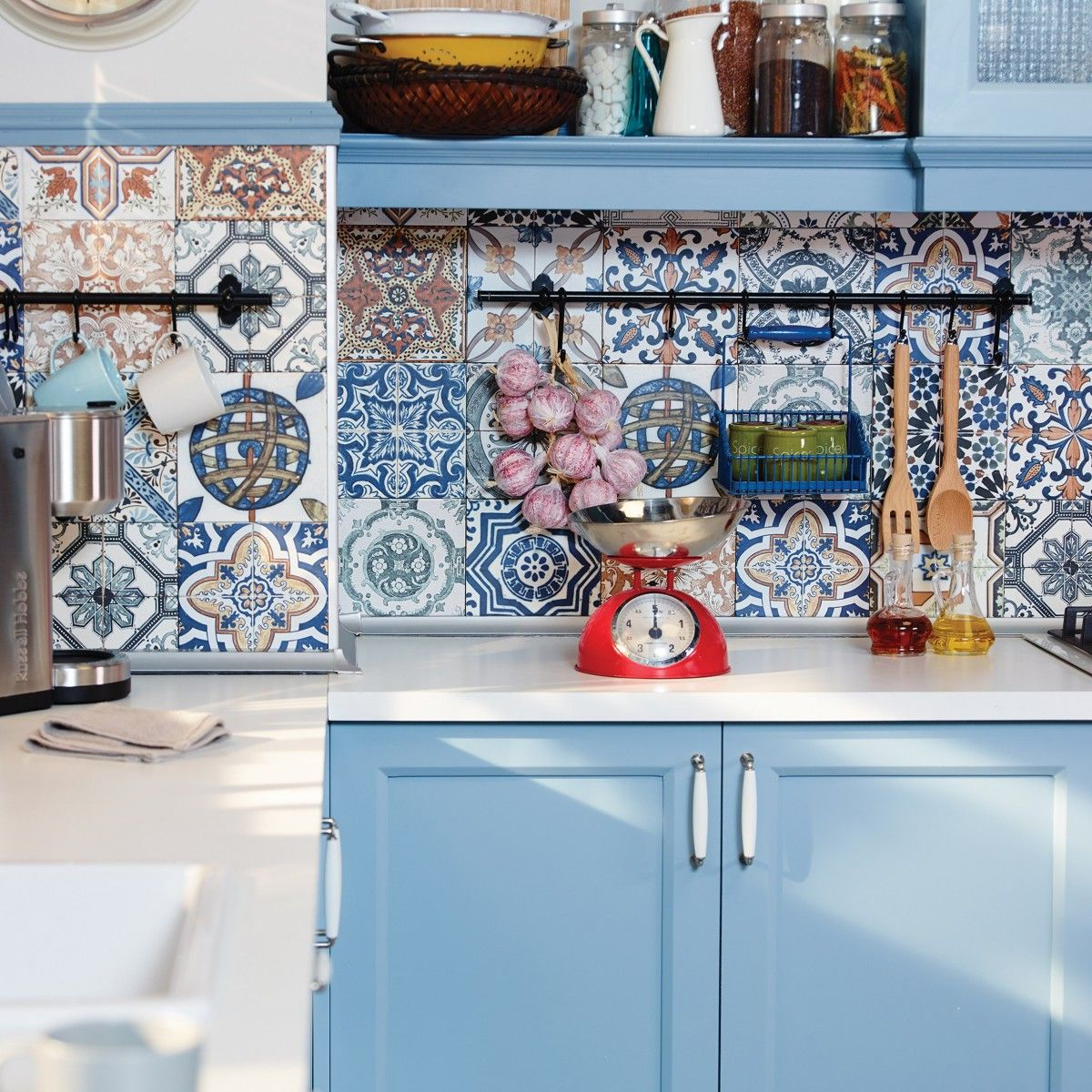 Nikea Matt Multi Colour - 200mm x 200mm | Kitchen | Pinterest ...