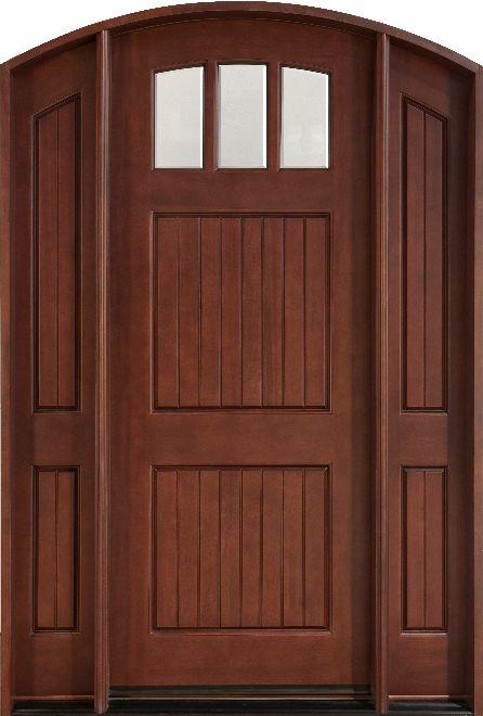 Db 245 2sl Cst Medium Mahogany Entry Door