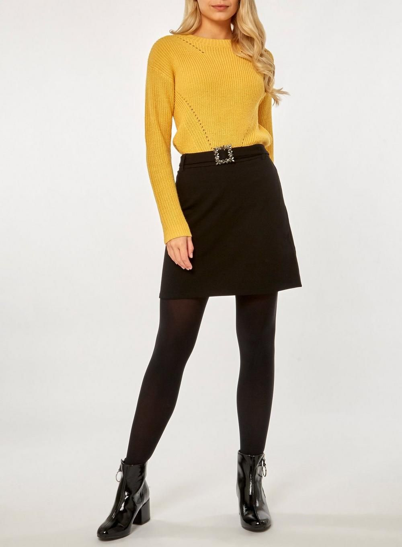 c566b30a29e6 Bling Buckle Mini Skirt | Products | Mini skirts, Skirts, High ...