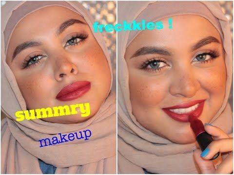 مكياج صيفي سهل مع نمش Youtube Makeup Make Up How To Make