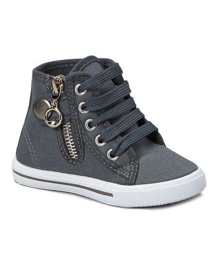 Ameta Gray Star Zipper Hi-Top Sneaker | zulily