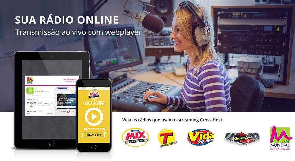 Transmissão ao vivo com webplayer